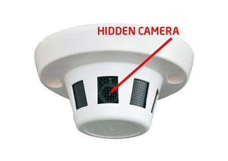 دوربین مدار بسته مخفی در سنسور دود